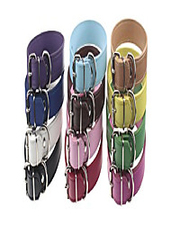 cheap -set of 12 adjustable id collars leather for medium large breed dogs