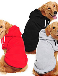 cheap -Dog Sweater Sweatshirt Solid Colored Casual / Daily Winter Dog Clothes Black Yellow Red Costume Cotton XS S M L XL XXL