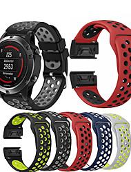 cheap -Watch Band Wrist Strap for Garmin Fenix 5 / Approach S60 / Forerunner 935 / 945 / Quatix 5 / Quatix 5 Sapphire / Fenix 6 / Fenix 5 Plus Watch Quick Release Silicone Easyfit Bracelet Wristband