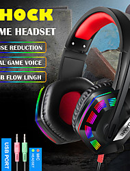 cheap -Gaming Headset Headphones Game Earphones Wired Bass Stereo Casque With Light For PC Own Extension Rod Mic