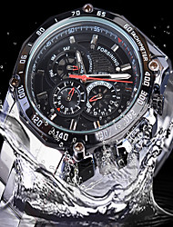 cheap -FORSINING Men's Mechanical Watch Analog Automatic self-winding Vintage Style Casual Hollow Engraving / Two Years / Leather