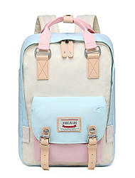 cheap -Women's Polyester School Bag Rucksack Commuter Backpack Large Capacity Zipper Daily Backpack Black Blue Blushing Pink Gray