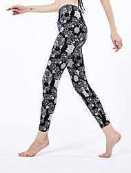 cheap -Women's Sporty Yoga Comfort Skinny Halloween Leggings Pants Skull Ankle-Length High Waist Black
