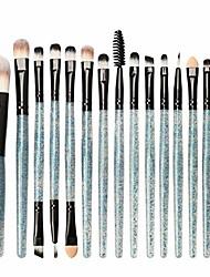 cheap -2020 new eye makeup brush set, 15 pcs professional eye shadow, concealer, eyebrow, foundation (blue 1)