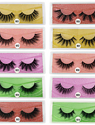 cheap -3D False Eyelashes 10 Pairs Base Card Natural Thick Eyelashes Cosmetic Grooming Supplies Party Halloween