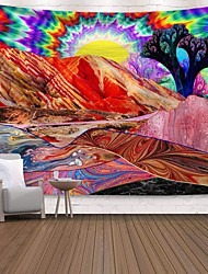 cheap -Wall Tapestry Art Decor Blanket Curtain Picnic Tablecloth Hanging Home Bedroom Living Room Dorm Decoration Polyester Print Colorful Sun Mountain River Abstract