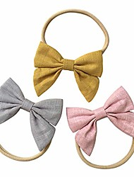 cheap -baby girl headbands with bows, super soft nylon hair bands for newborn, infant, toddler