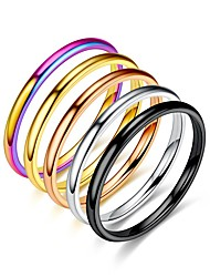 cheap -2mm tungsten carbide stackable ring plain wedding band (gold, 4.5)