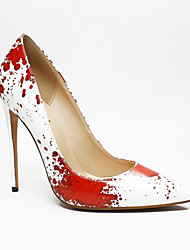 cheap -Women's Heels Stiletto Heel Pointed Toe Classic Daily Polka Dot PU Red
