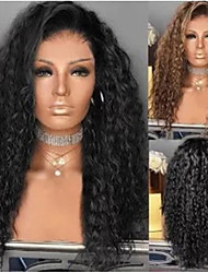 cheap -Synthetic Wig Afro Curly With Bangs Wig Medium Length Light golden Natural Black Synthetic Hair 58-62 inch Women's African American Wig Blonde Black