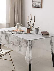 cheap -Table Cloth Lace Dust-proof Lace Solid Colored Table Cover Table Decorations For Desk Rectangular 150*180/150*220 Cm Pure White 1 Pc