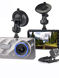 cheap -Hd 4 Inch Dual Lens Afbeelding 1080P Verborgen Groothoek Rijden Recorder Dash Cam Dual Lens Auto Dvr Camera Ondersteuning Omkeren