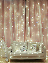cheap -2x2m LED Curtain Fairy Lights Christmas Tree Decoration LED Patio Party Wedding Window Bedroom Outdoor String Lights for New Year Holidays