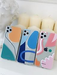 billige -etui til apple iphone 11 stødsikker / støvtæt bagcover geometrisk mønster tpu til etui iphone 11 pro / 11 pro max / 7/8 / 7p / 8p / se 2020 / x / xs / xs max / xr