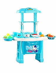 cheap -intellectual toy children's kitchen toy set girl 3-6 years old simulation kitchen utensils 2 colors optional gifts for boys and girls (color : blue)