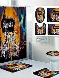 cheap -Halloween Night Ghost Pattern PrintingBathroom Shower Curtain Leisure Toilet Four-Piece Design