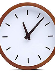 "cheap -modern wood analog wall clock & #40;12""& #41; - battery operated with silent sweep movement - small decorative wooden clocks for bedrooms, bathroom, kitchen, living room, office or classroom"