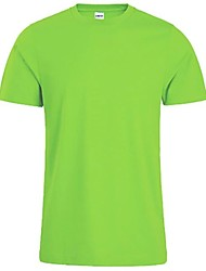 cheap -Men's T shirt non-printing Solid Colored Short Sleeve Daily Tops Cotton Basic White Black Red