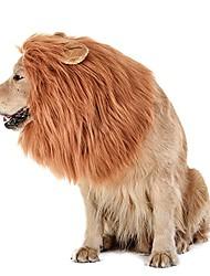 رخيصةأون -بدة الأسد الكلب - واقعية& ماني الأسد المضحك للكلاب - بدة الأسد التكميلية لأزياء الكلاب - شعر مستعار الأسد للكلاب متوسطة إلى كبيرة الحجم ، شعر مستعار الأسد ماني للكلاب