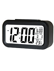 cheap -Alarm Clock LED Display Digital Alarm Clock Snooze Night Light Battery Clock with Date Calendar Temperature for Bedroom Home Office Travel(Not Include Batteries)