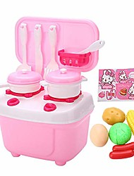 cheap -16pcs/set kids kitchen cooking set toy pretend play cookware many optional role-playing with lights and sounds(pink)