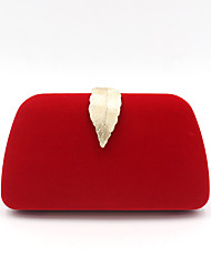 cheap -Women's Bags Polyester Alloy Evening Bag Buttons Solid Color Wedding Event / Party Evening Bag Handbags Black Red