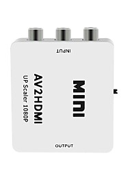 cheap -HDMI TO AV Scaler Adapter HD Video Composite Converter Box HDMI to RCA AV/CVSB L/R Video 1080P Mini HDMI AV Support NTSC PAL