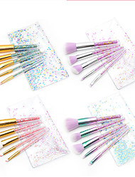 cheap -5 Pcs diamond crystal transparent handle makeup brush set particle transparent package eye brush make-up beauty