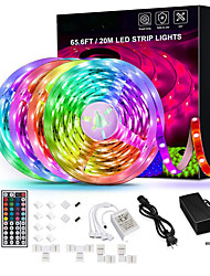 cheap -65.6ft-20M Led Strip Lights Ultra-Long RGB LED Lights Strip 5050 LED Tape Lights Flexible Color Changing LED Lights with 44 Keys IR Remote for Bedroom Kitchen DIY Home Decoration(4X16.4ft) and 12V 10A