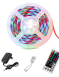 cheap -LED Strip Light RGB 5M 300 LEDs 2835 SMD  Flexible Ribbon led light strip Tape Diode 12V LED Light Kits with 44-Key Remote Controller & Power Supply for Decoration