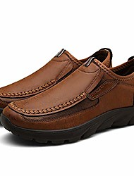 cheap -men's slip-on casual loafers leisure comfort simulation leather lightweight breathable working driving and traveling shoes husband boyfriend gift ¡ brown