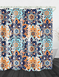 cheap -Ethnic Style big flower Print Waterproof Fabric Shower Curtain for Bathroom Home Decor Covered Bathtub Curtains Liner Includes with Hooks