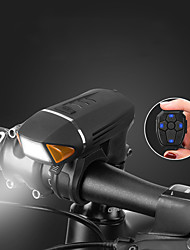 cheap -usb rechargeable bicycle light with speaker wireless remote control, bike headlight and tail light anti-glare night riding headlights, with 1800 mah battery, 4 brightness mode, 350 lumens