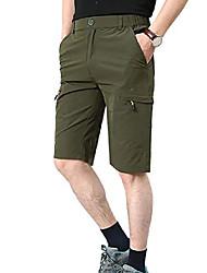 cheap -men's outdoor expandable waist lightweight quick dry shorts army green 38