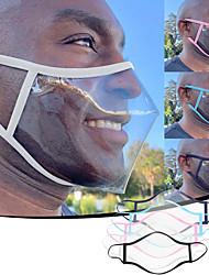 cheap -Adult Unisex Lip Language Dustproof Smog and Anti-spitting PVC Material Transparent Mask
