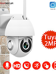 cheap -Tuya 1080P PTZ IP Camera Wifi Outdoor Speed Dome Wireless Wifi Security Camera Pan Network CCTV Surveillanc