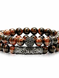 cheap -8mm tiger eye stone beads bracelet elastic natural stone yoga bracelet for women men