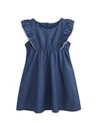 cheap -girls summer dress short sleeve casual cotton dress (royal blue, 6t)