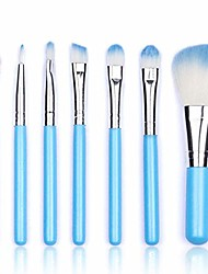 cheap -makeup brush set, 7 pieces professional makeup brushes essential cosmetics with case, face eye shadow eyeliner foundation blush lip powder liquid cream blending brush