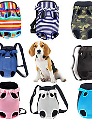 cheap -Dog Cat Front Backpack Chest Bag Dog Backpack Portable Foldable Travel Plaid / Check Stripes Leopard Terylene Camouflage Color Rainbow Stripe