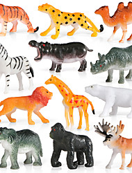 cheap -12pcs Animal Action Figures Set Modeling Elephant / Baboon / Lion / Mountain cow / Goat / Wild boar / Hedgehog