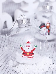 cheap -2 Pcs 8cm Transparent Christmas Balls Ornaments for Xmas Tree - Shatterproof Christmas Tree Decorations Hanging