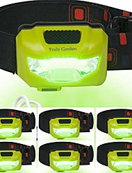 cheap -green led headlamp usb rechargeable - forget changing batteries. 120 lumen, wide angle headlamp is great for growers inspecting flowering plants in hydroponic grow rooms. - 6-pack