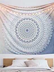 cheap -Wall Tapestry Art Decor Blanket Curtain Hanging Home Bedroom Living Room Dorm Decoration Polyester Print Mandala Indian