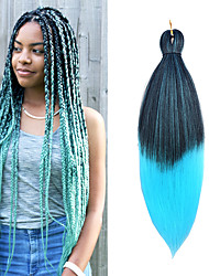 cheap -Twist Braids Straight Box Braids Blue Pink Synthetic Hair 26 inch Braiding Hair 1 Piece 3 Pieces 6 Pieces