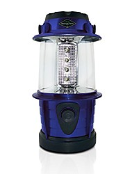 cheap -adjustable 12 led lantern - personal outdoor camping lantern 360 degrees lighting - use on a table or hanging (blue)