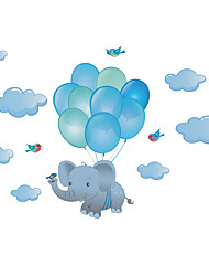 cheap -25.7*23CM New Cartoon Stickers Elephant Balloon Self Adhesive Wall Stickers Creative Children's Room Wall Decoration