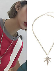 cheap -Women's Pendant Necklace Necklace Classic Leaf Classic Punk Trendy Fashion Alloy Silver 57 cm Necklace Jewelry 1pc For Street Gift Masquerade Birthday Party Festival