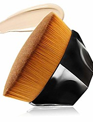 cheap -foundation makeup brush, flat top kabuki travel liquid foundation brush perfect for blending liquid, cream or flawless powder cosmetics, full coverage face & body brush with protective case