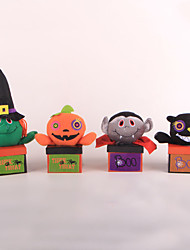 cheap -Halloween Party Toys Candy Jar 4 pcs Pumpkin Bat Witch Vampire Fabrics Adults Trick or Treat Halloween Party Favors Supplies